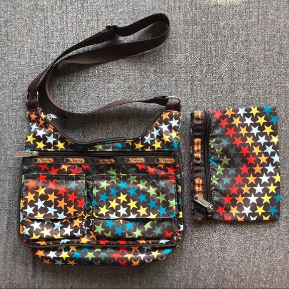 LESPORTSAC Rainbow Star Bag and Pouch